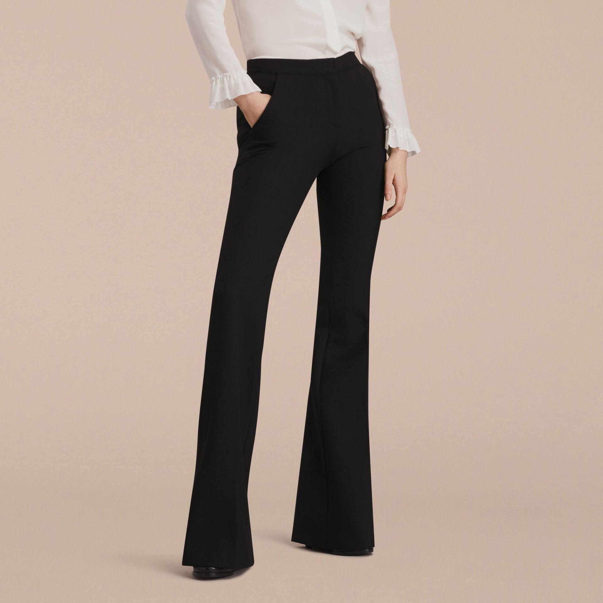 Wide-leg Technical Trousers - gallery image 6