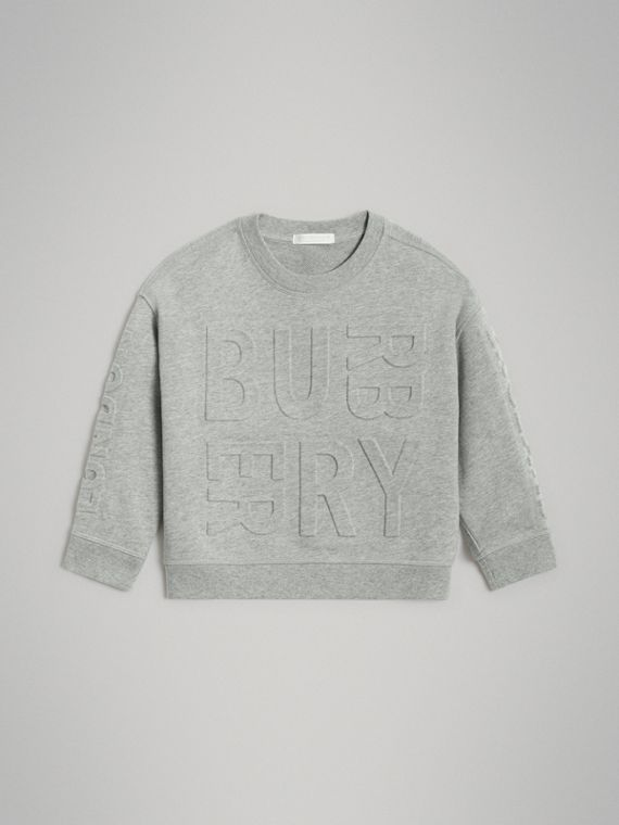 Sweat-shirt en coton avec logo estampé (Camaïeu De Gris)