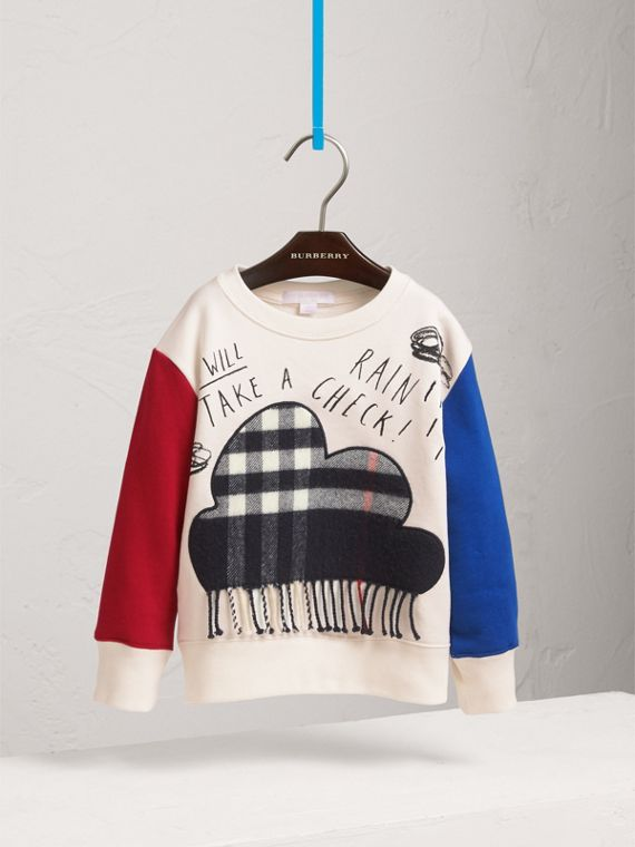 Weather Motif Cotton Sweatshirt in Navy - Boy | Burberry Australia - cell image 2