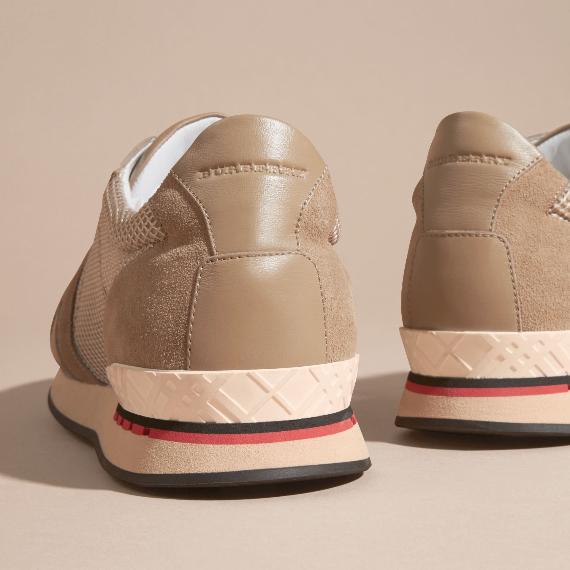 Camel The Field Sneaker in Suede and Mesh Camel - gallery image 4