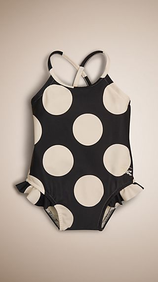 Dot Print One-piece Swimsuit
