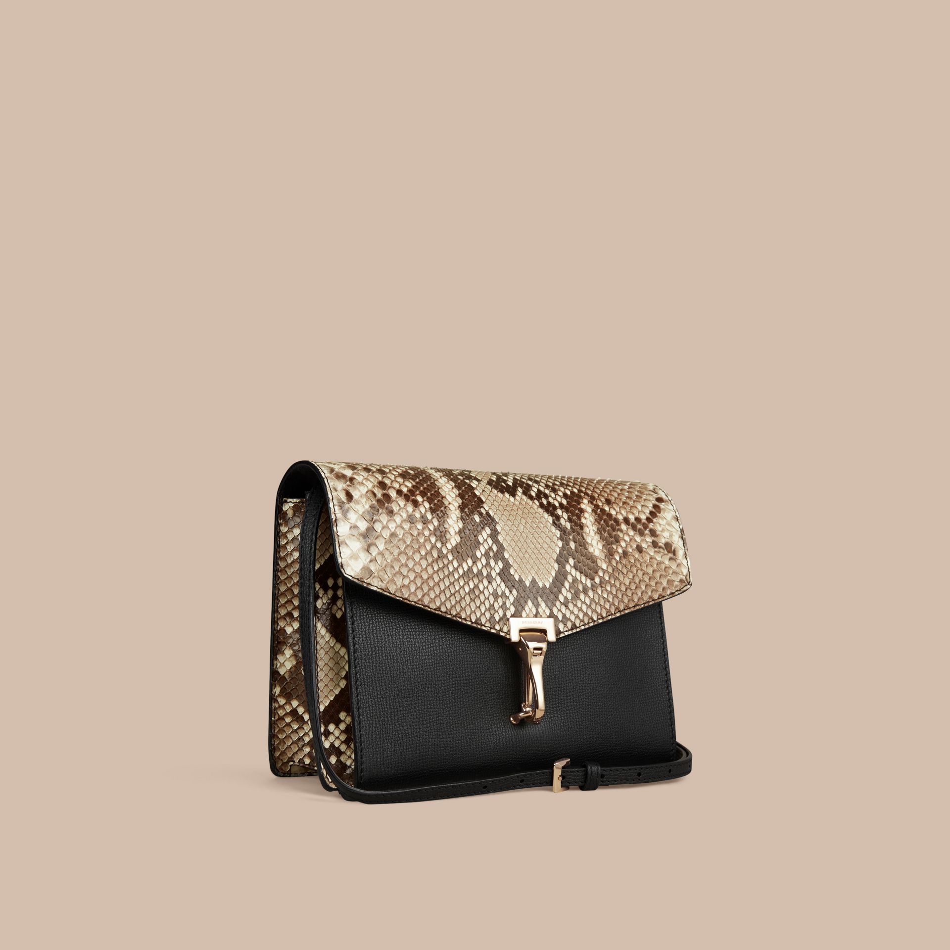 Small Python Crossbody Bag in Natural - Women | Burberry United Kingdom - gallery image 6