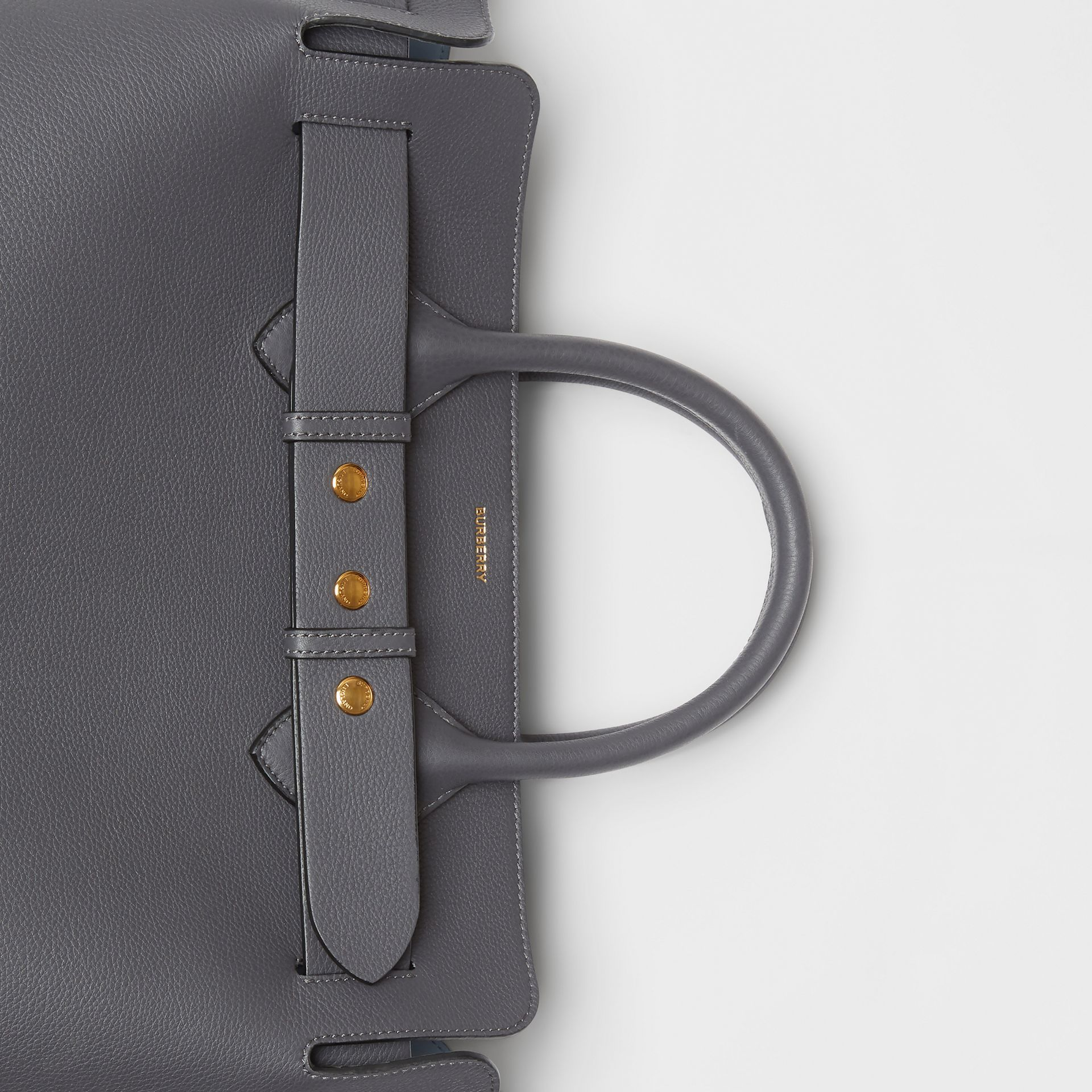 The Medium Leather Triple Stud Belt Bag in Charcoal Grey - Women | Burberry - gallery image 1