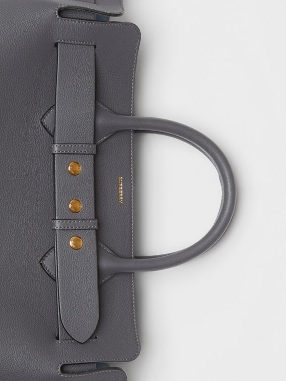 The Medium Leather Triple Stud Belt Bag in Charcoal Grey - Women | Burberry Singapore - cell image 1