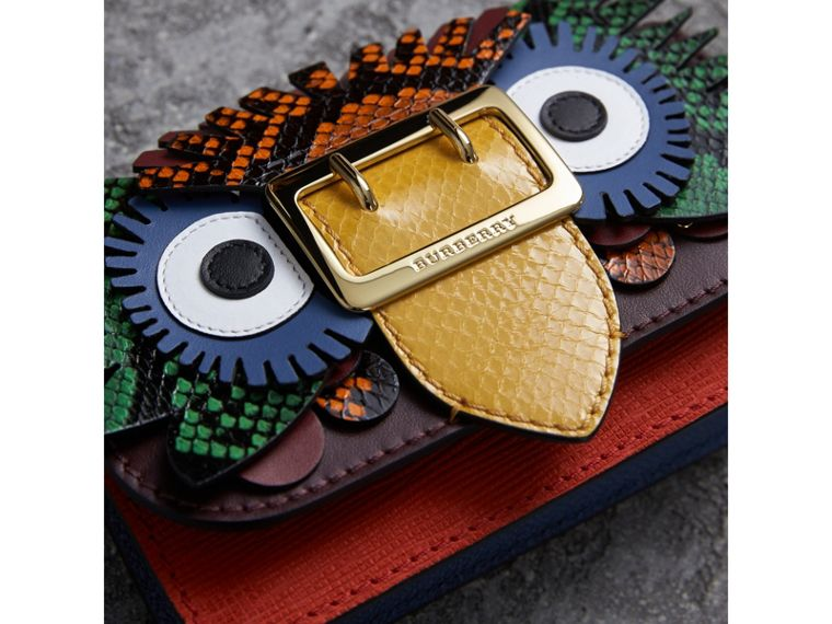 The Mini Buckle Beasts 圖案皮革與蛇皮包 (淡茄色) - 女款 | Burberry - cell image 1