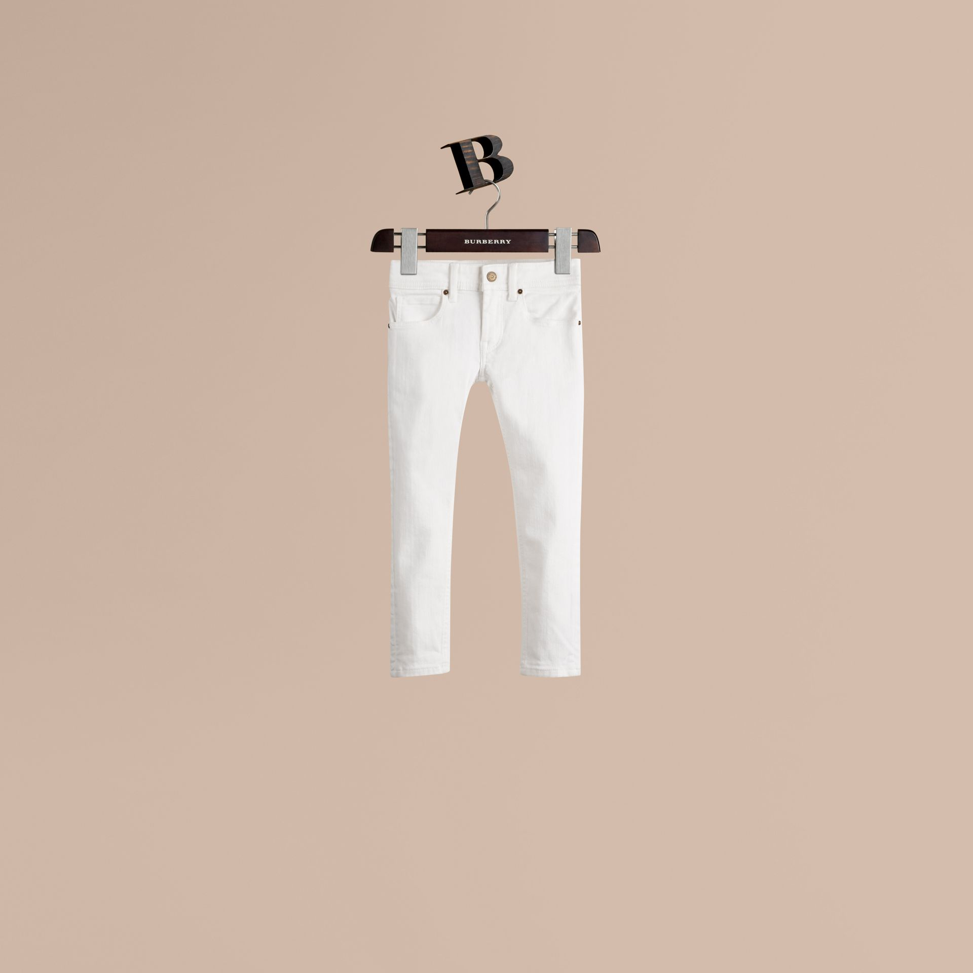 White Skinny Fit Cotton Blend Jeans - gallery image 1