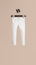 Skinny Fit Cotton Blend Jeans