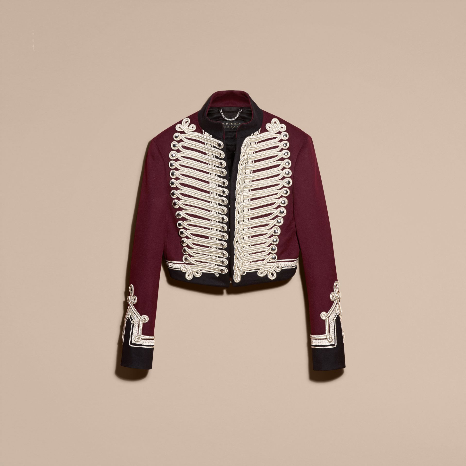 Burgundy Doeskin Wool Cavalry Jacket - gallery image 4