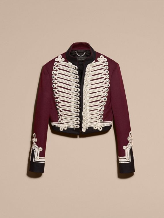 Burgundy Doeskin Wool Cavalry Jacket - cell image 3