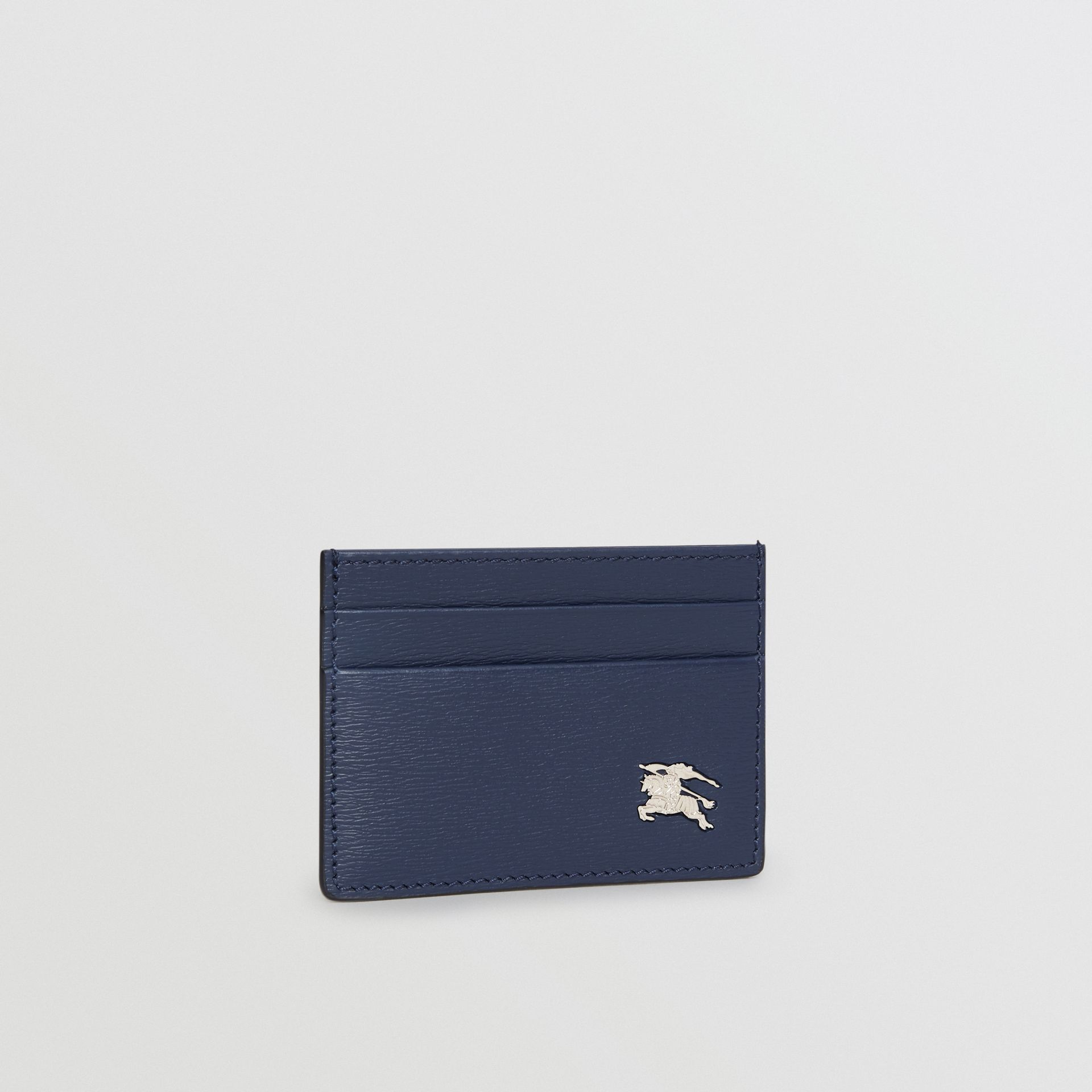 London Leather Card Case in Navy - Men | Burberry - gallery image 3
