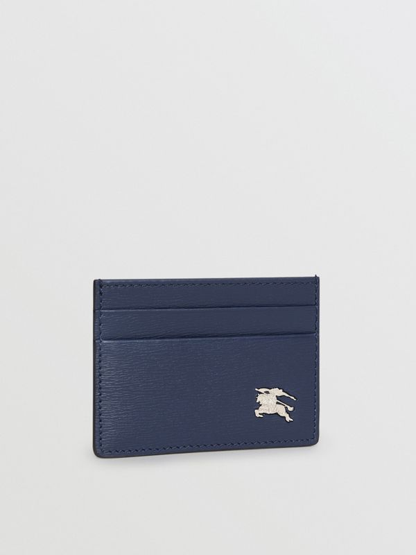 London Leather Card Case in Navy - Men | Burberry - cell image 3