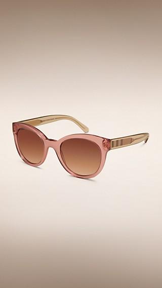 Солнцезащитные очки с отделкой в клетку