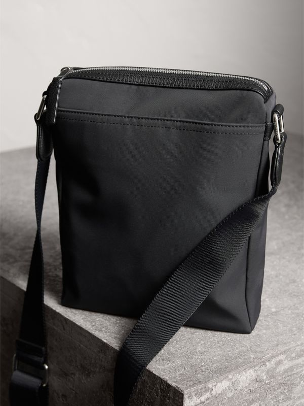Small Technical Crossbody Bag with Leather Trim in Black - Men | Burberry United Kingdom - cell image 3