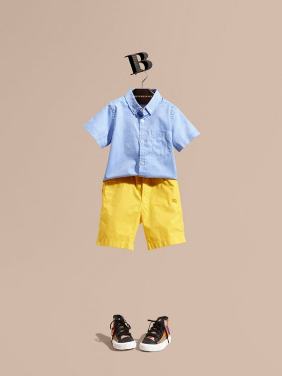 Cotton Chino Shorts - Boy | Burberry Australia