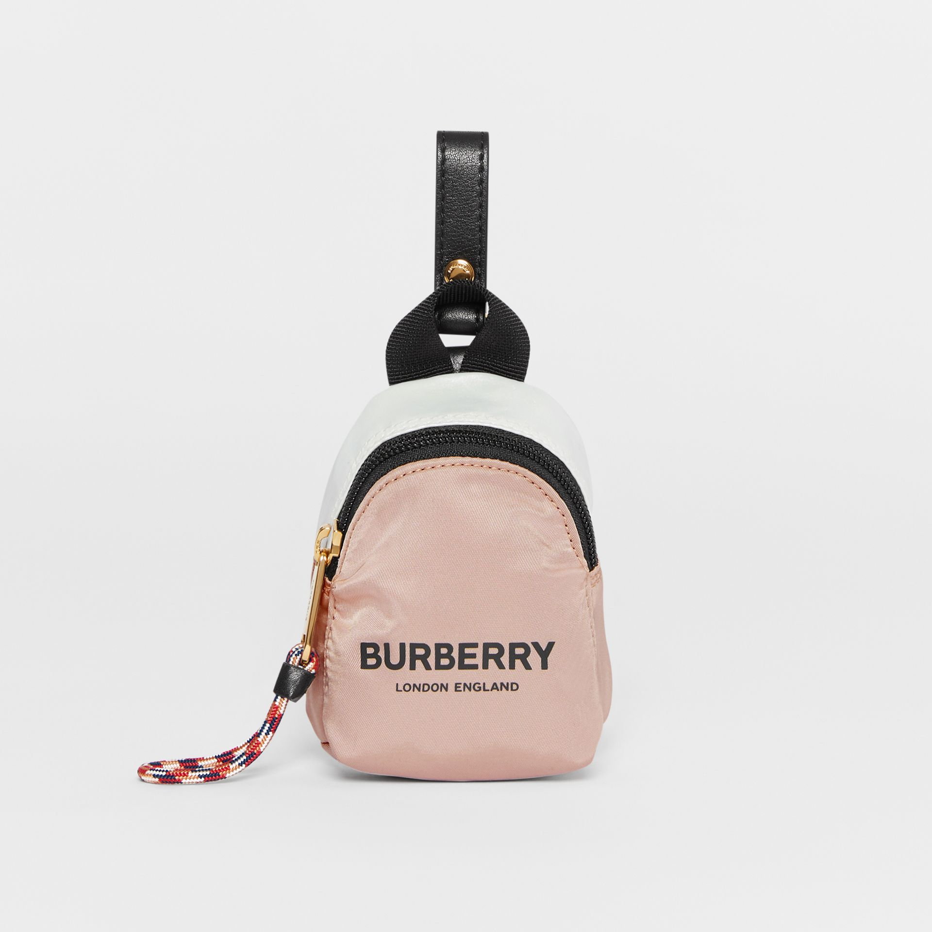 Logo Print Two-Tone Coin Case in Pearl - Children | Burberry - gallery image 0