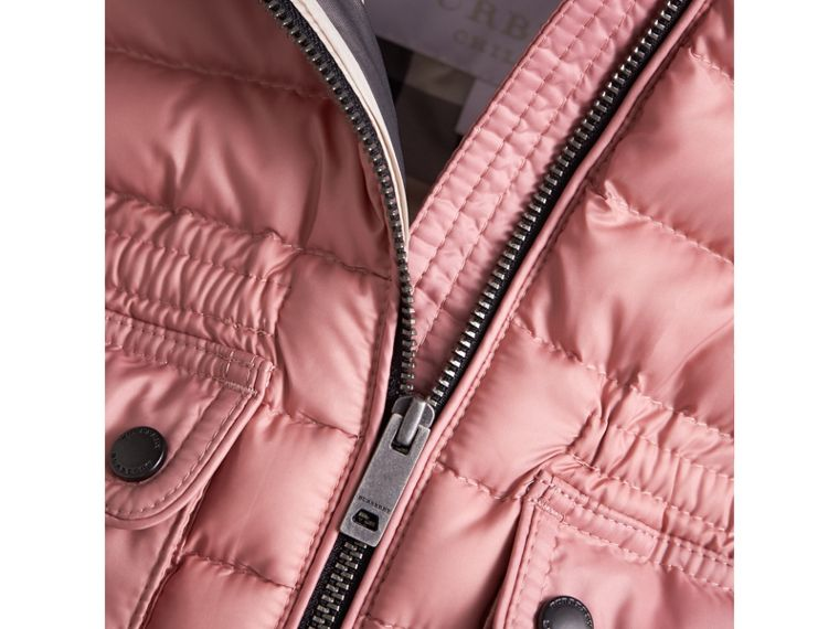 Down-filled Gilet with Detachable Hood in Pale Rose | Burberry - cell image 1