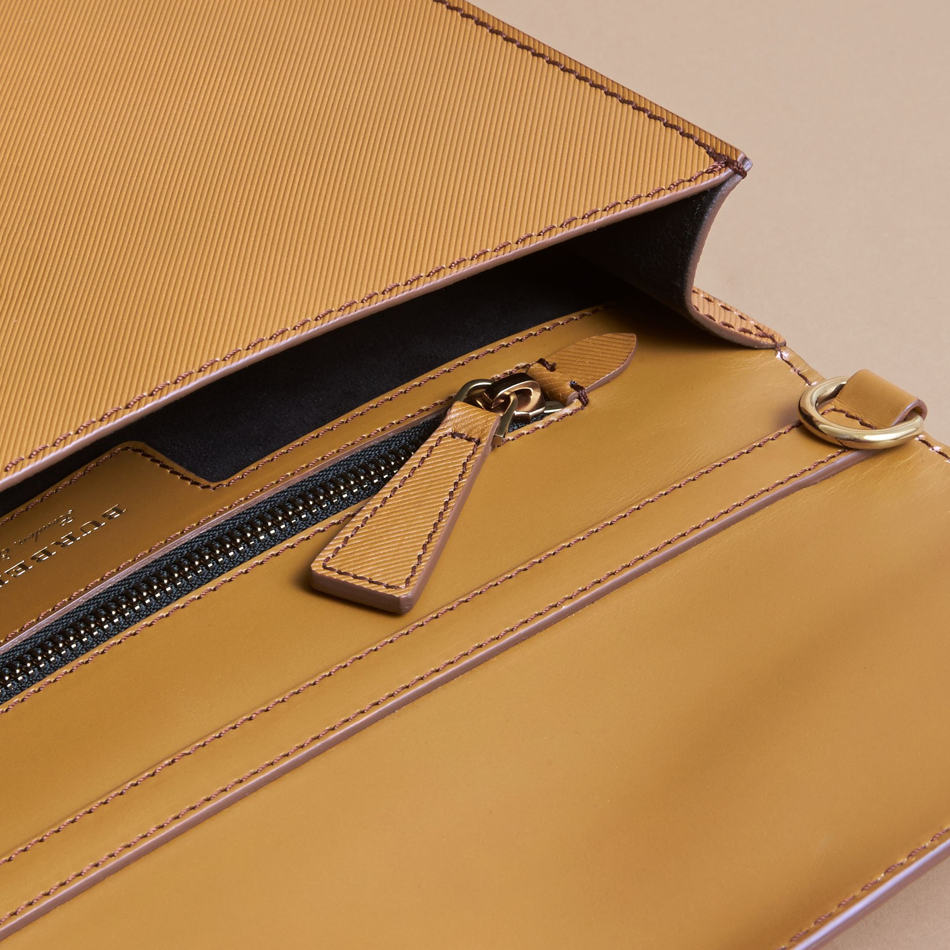 The DK88 Document Case in Ochre Yellow - Men | Burberry - gallery image 4