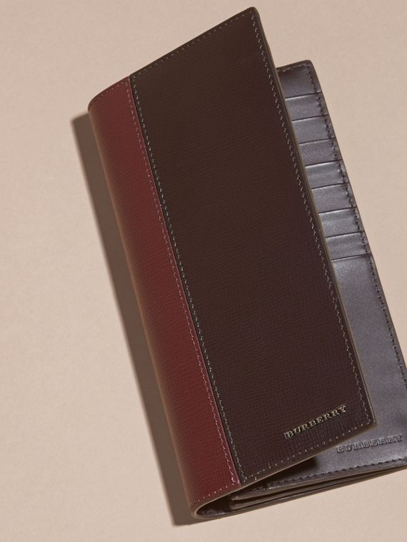 Wine/burgundy red Colour Block London Leather Continental Wallet Wine/burgundy Red - cell image 2