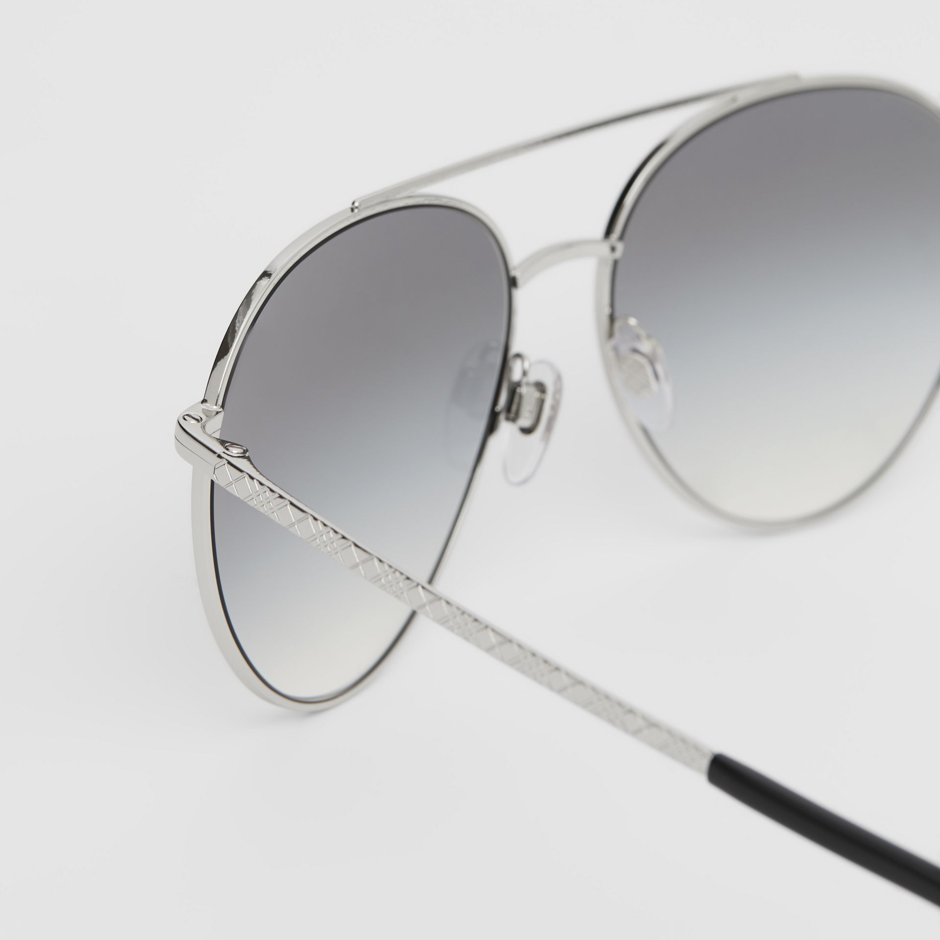 Pilot Sunglasses in Grey - Women | Burberry - gallery image 1