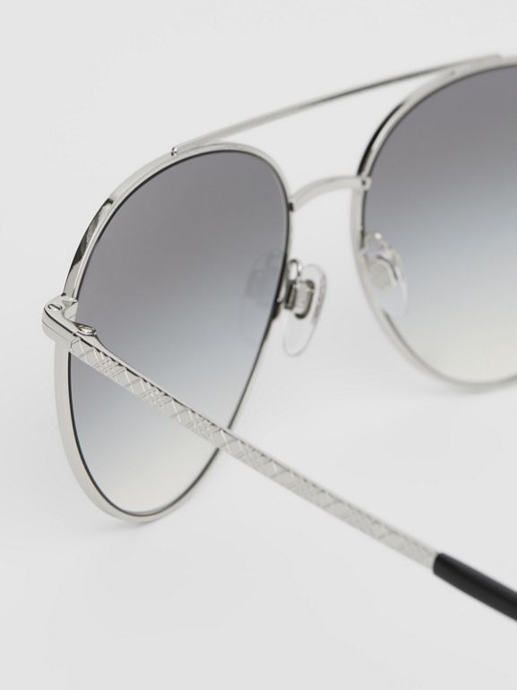 Pilot Sunglasses in Grey - Women | Burberry - cell image 1