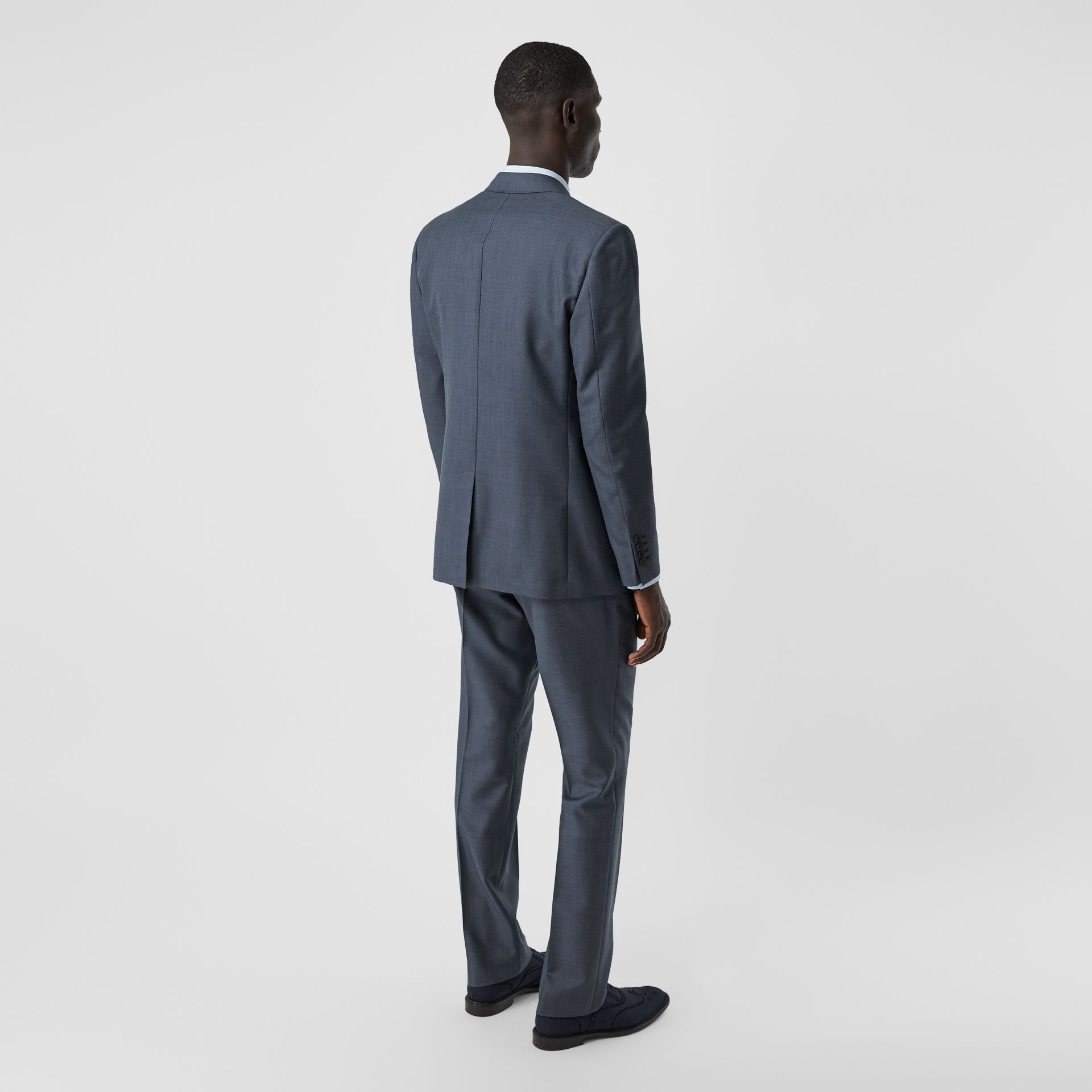 Classic Fit Wool Mohair Blend Three-piece Suit in Steel Blue - Men   Burberry United States - gallery image 2