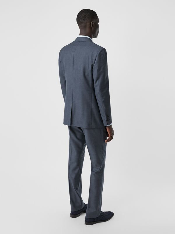 Classic Fit Wool Mohair Blend Three-piece Suit in Steel Blue - Men   Burberry United States - cell image 2