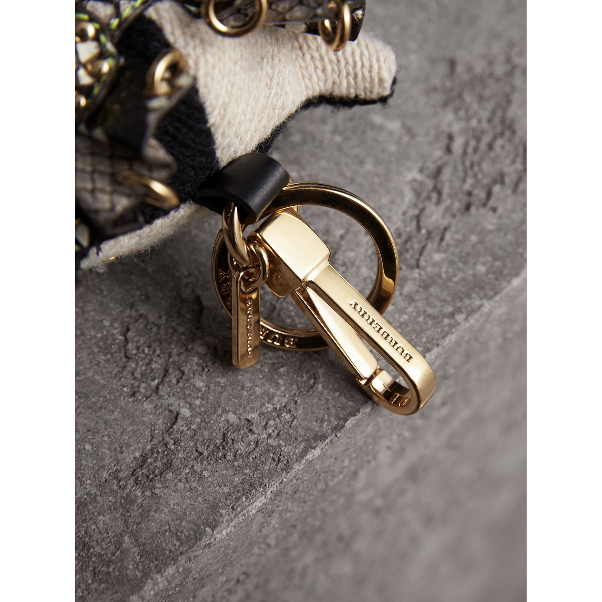 Mavis The Owl Wool Charm in Stone | Burberry - gallery image 1