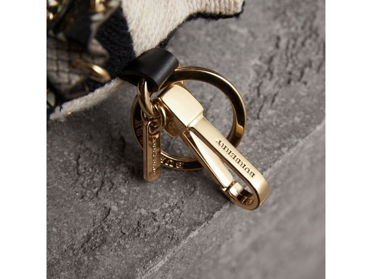 Mavis The Owl Wool Charm in Stone | Burberry United Kingdom - cell image 1