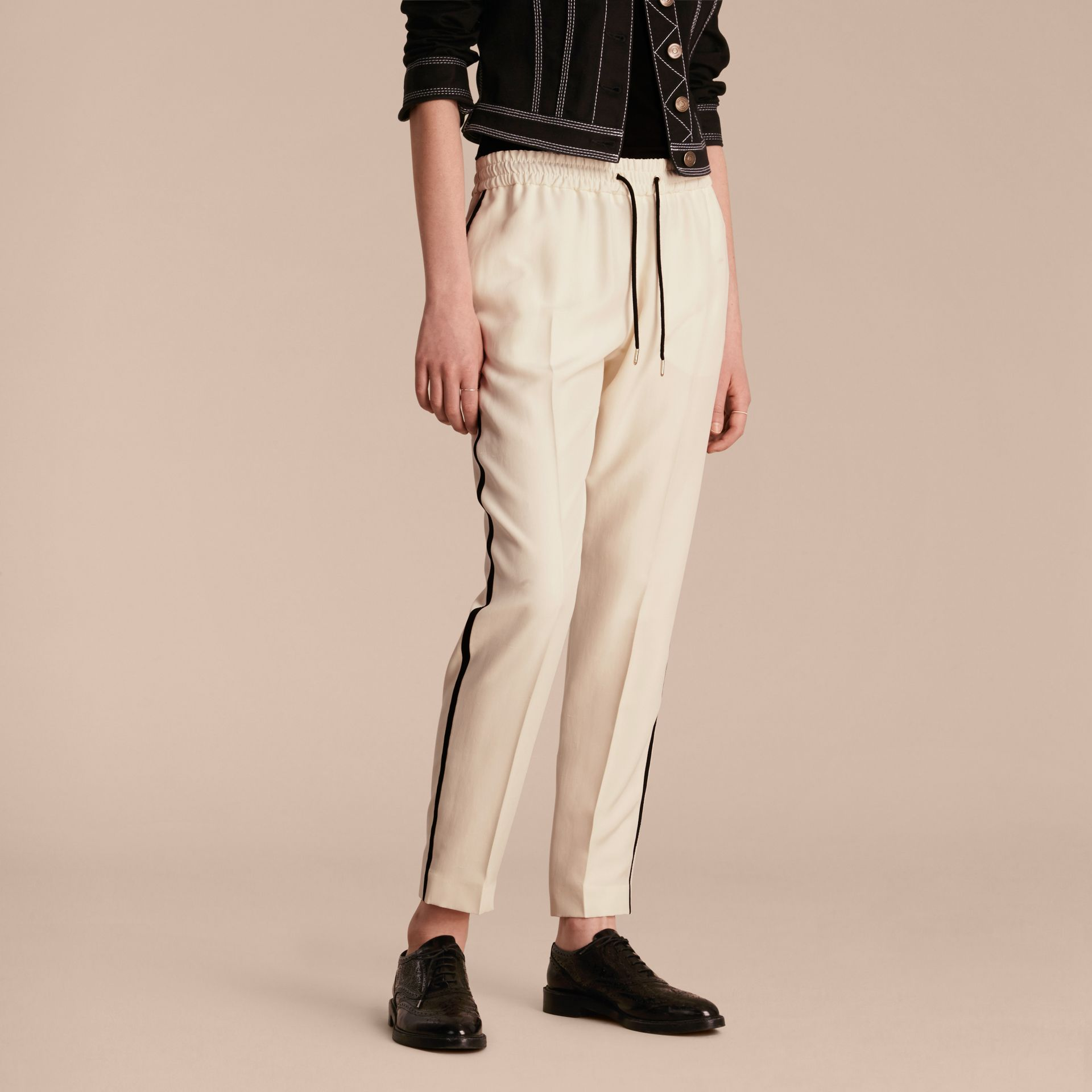 Parchment Tailored Silk Track Pants - gallery image 6