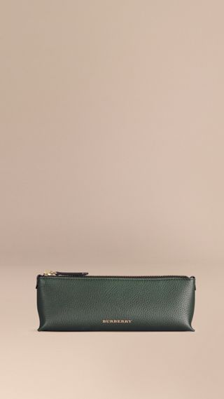 Small Grainy Leather Digital Accessory Pouch