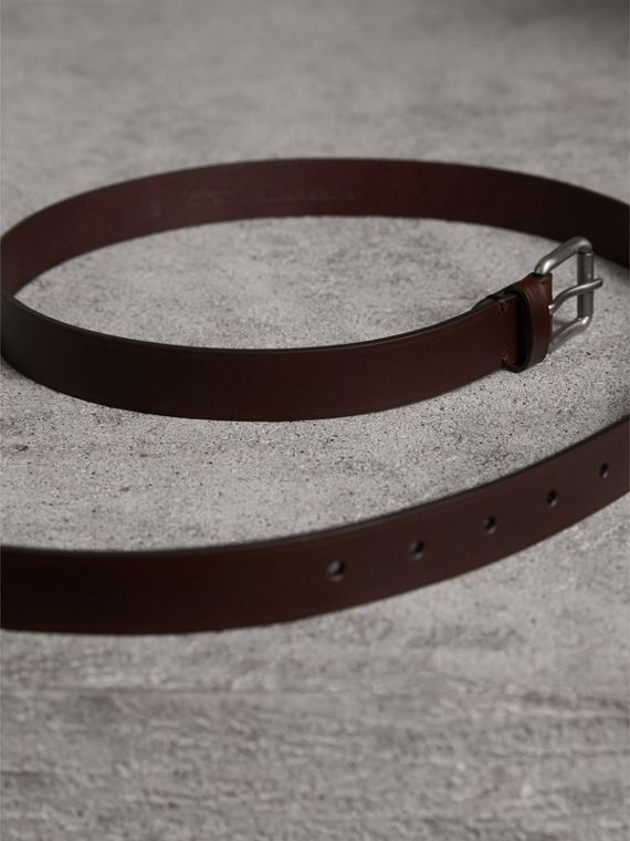 Smooth Leather Belt in Bitter Chocolate - Men | Burberry - cell image 3