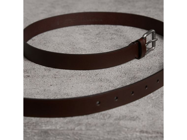 Smooth Leather Belt in Bitter Chocolate - Men | Burberry - cell image 2