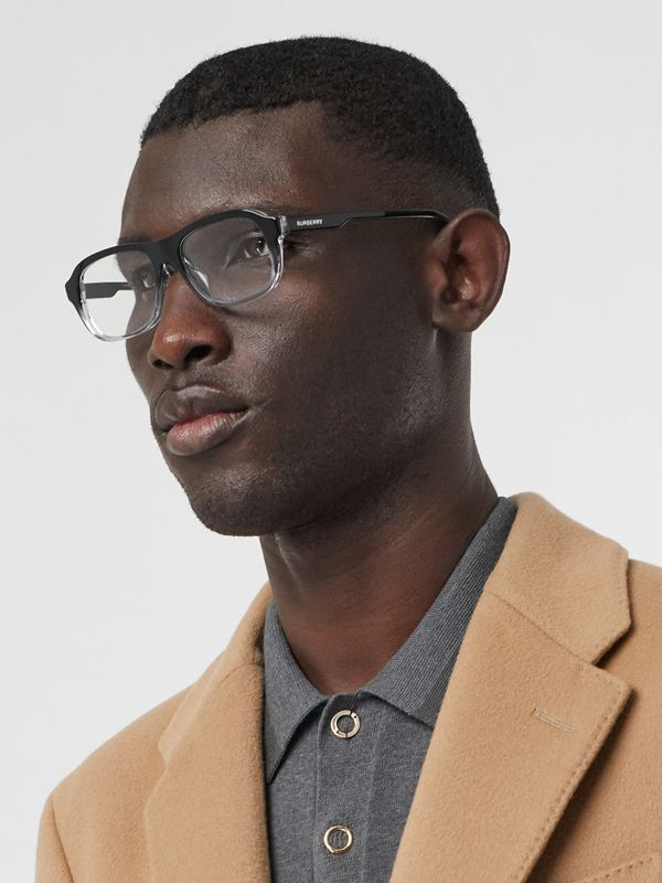 Gradient Detail Rectangular Optical Frames in Black - Men | Burberry Hong Kong S.A.R - cell image 2