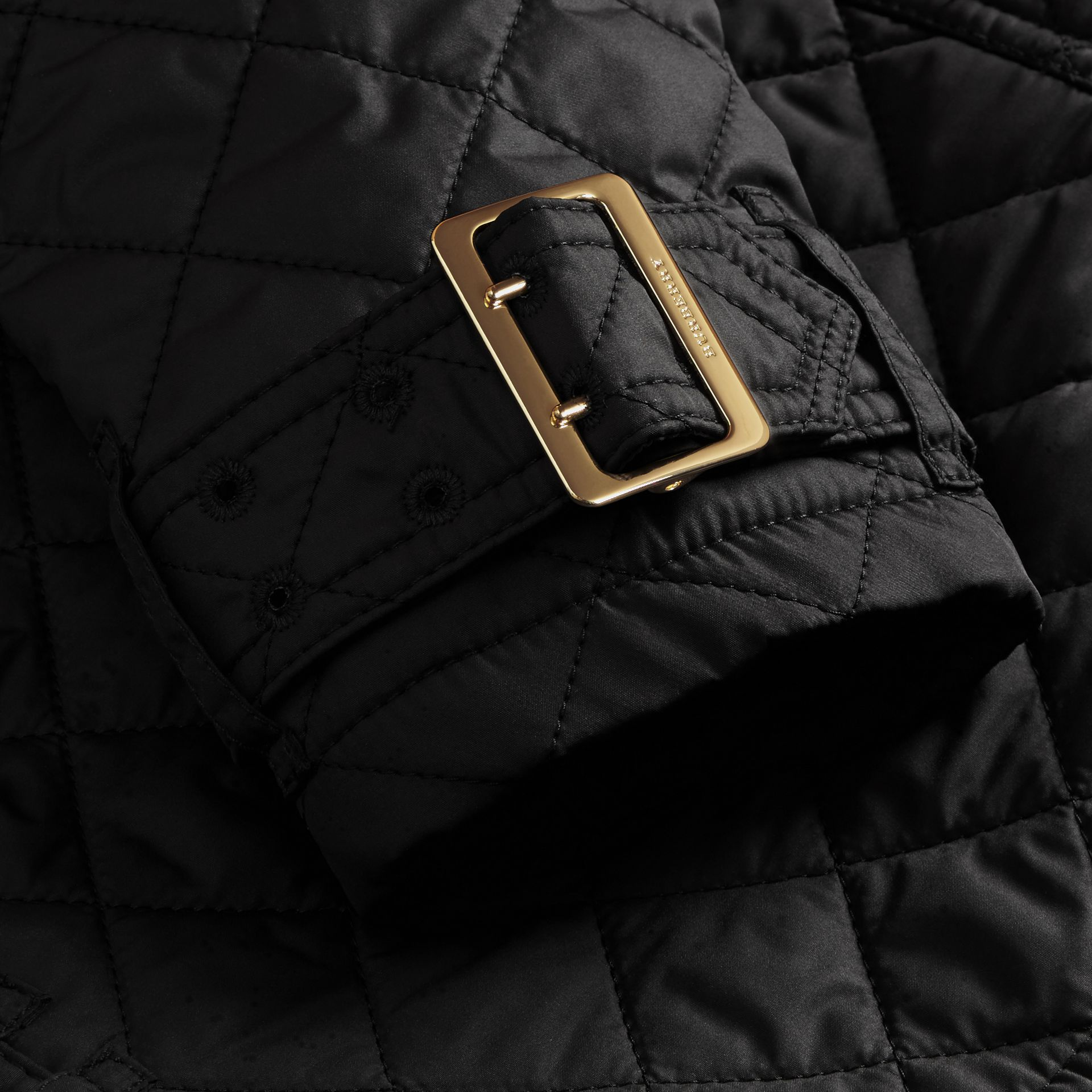 Black Buckle Detail Technical Field Jacket Black - gallery image 2