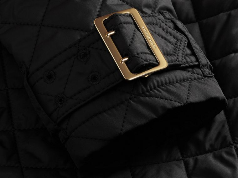 Black Buckle Detail Technical Field Jacket Black - cell image 1