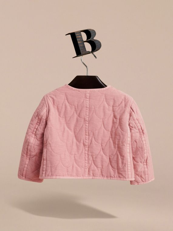 Quilted Collarless Cotton Blend Jacket - cell image 3