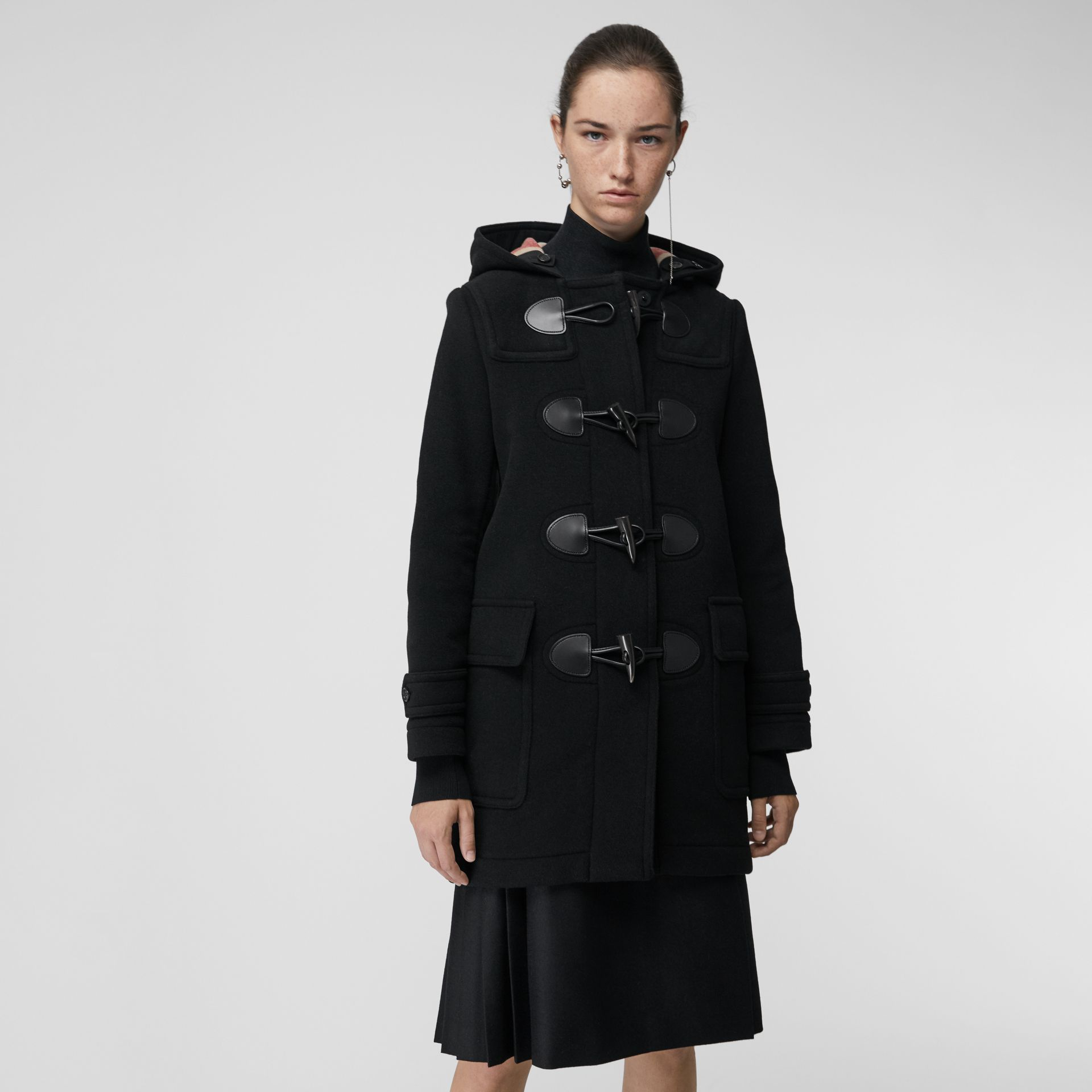 The Mersey Duffle Coat in Black - Women | Burberry - gallery image 5