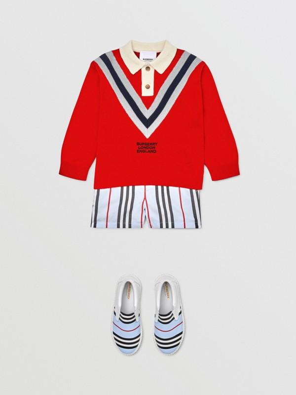 ロングスリーブ ニット カシミアコットン ポロシャツ (ブライトレッド) - チルドレンズ | バーバリー - cell image 2