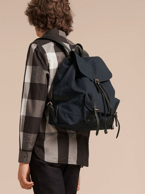 Deep navy Cotton Canvas Backpack - cell image 2