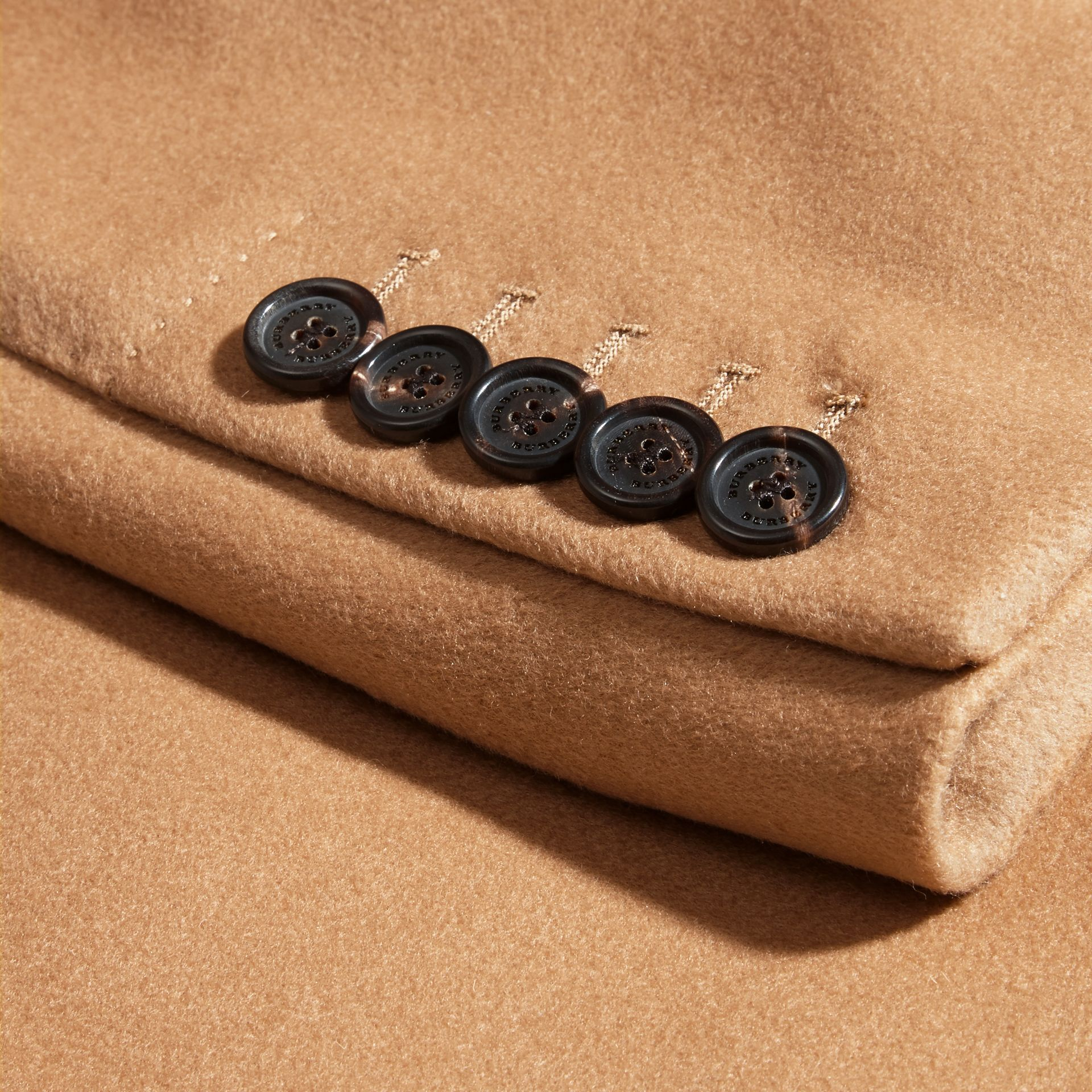 Wool Cashmere Tailored Coat in Camel - Men | Burberry - gallery image 2