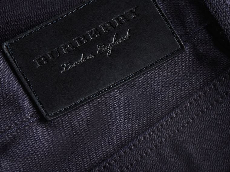 Slim Fit Saturated Selvedge Jeans - Men | Burberry - cell image 1