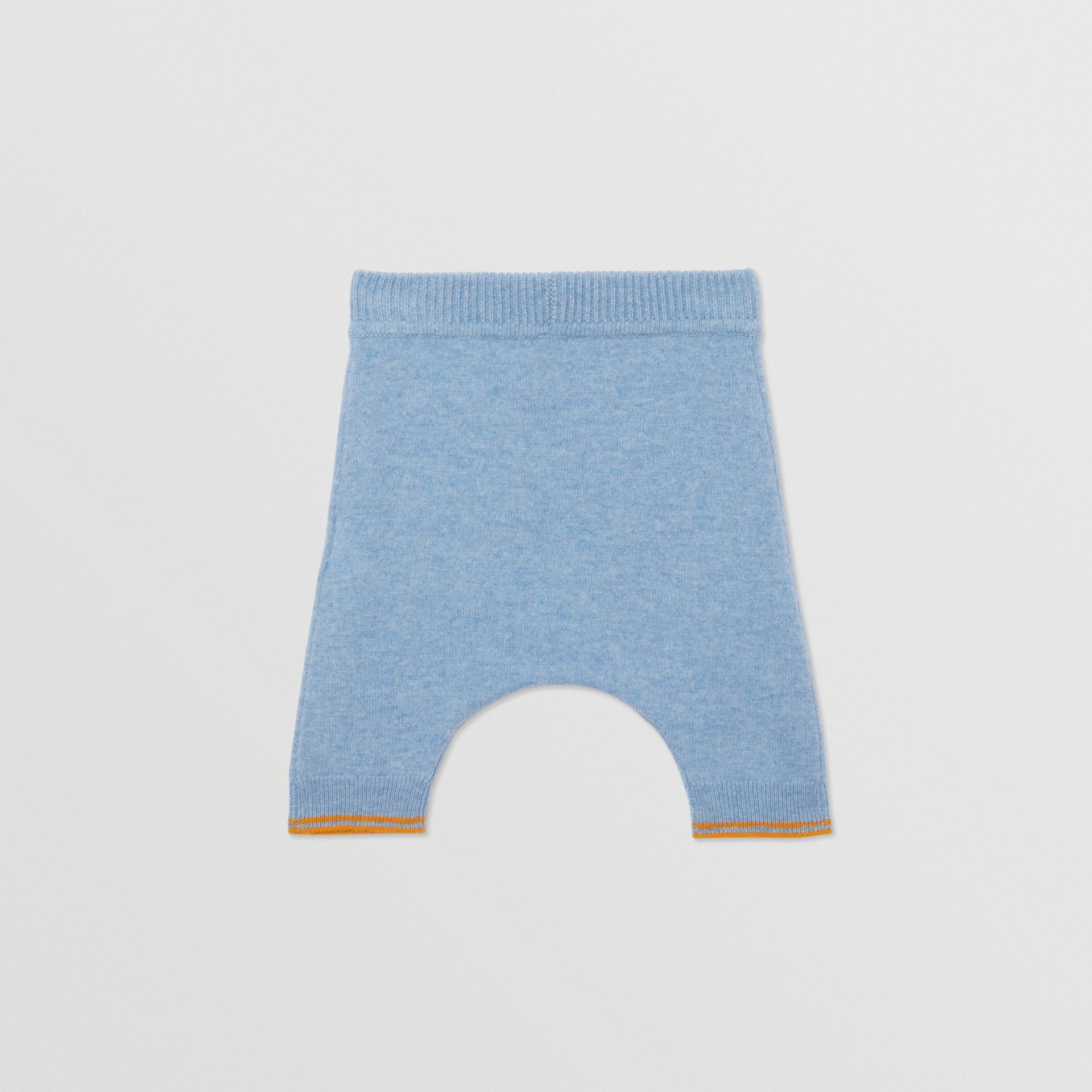 Bear Intarsia Wool Cashmere Two-piece Baby Gift Set in Pale Blue - Children | Burberry United Kingdom - gallery image 5