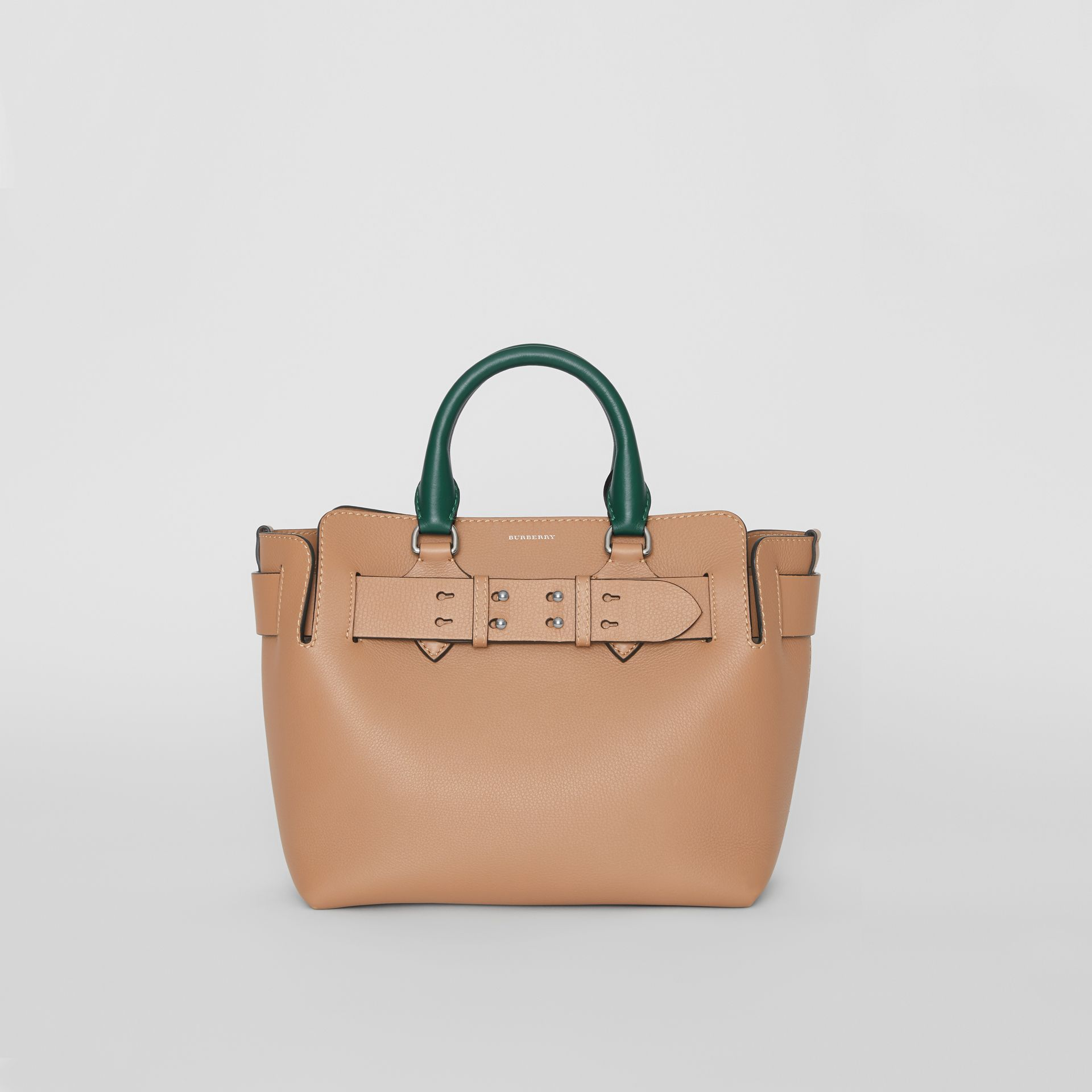 The Small Tri-tone Leather Belt Bag in Light Camel - Women | Burberry - gallery image 0