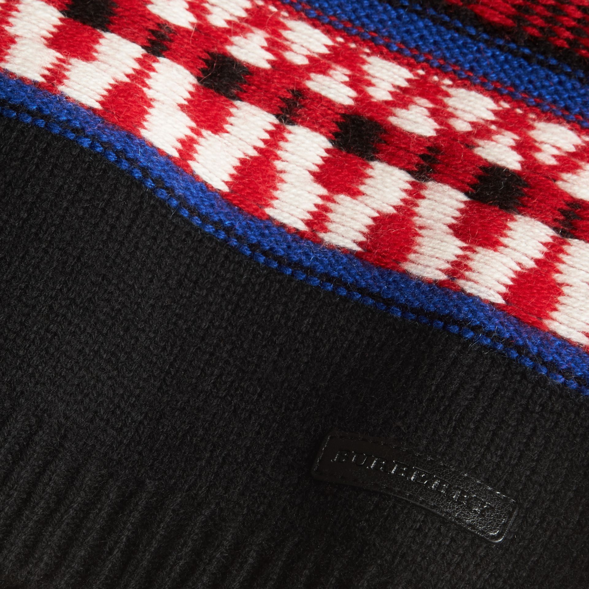 Parade red Fair Isle Wool Cashmere Sweater - gallery image 2