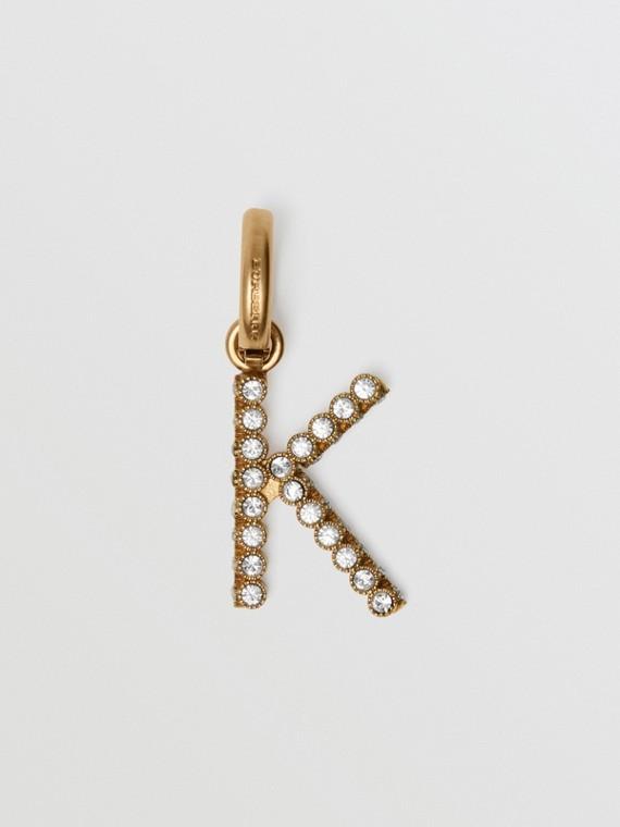 Crystal 'K' Alphabet Charm