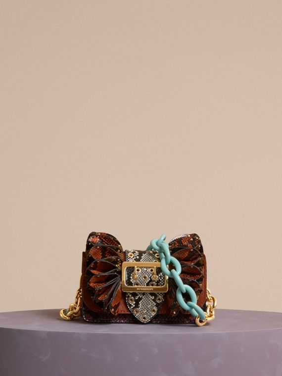 The Ruffle Buckle Bag in Snakeskin and Calfskin - cell image 2