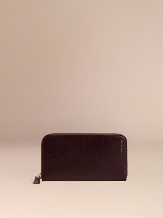 Wine London Leather Ziparound Wallet - cell image 2