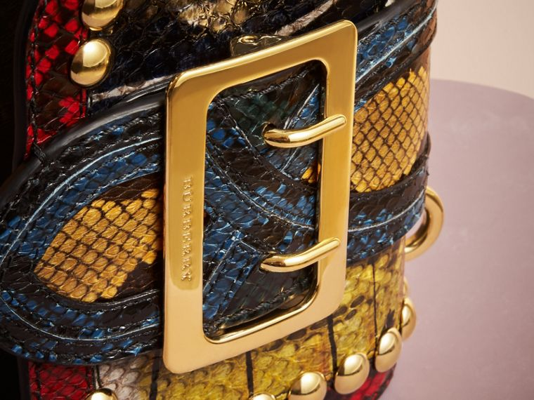 The Mini Square Buckle Bag in Calfskin and Riveted Snakeskin - cell image 1