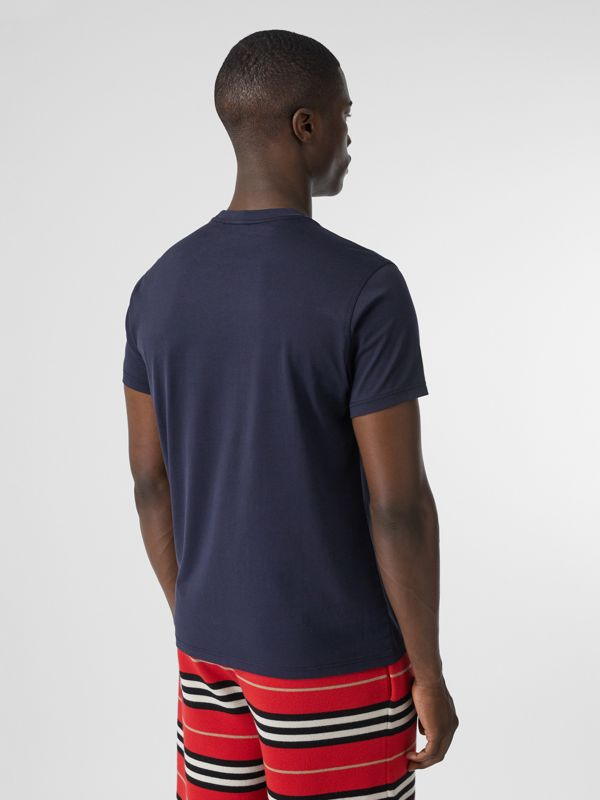 Monogram Motif Cotton T-shirt in Navy - Men | Burberry Australia - cell image 2