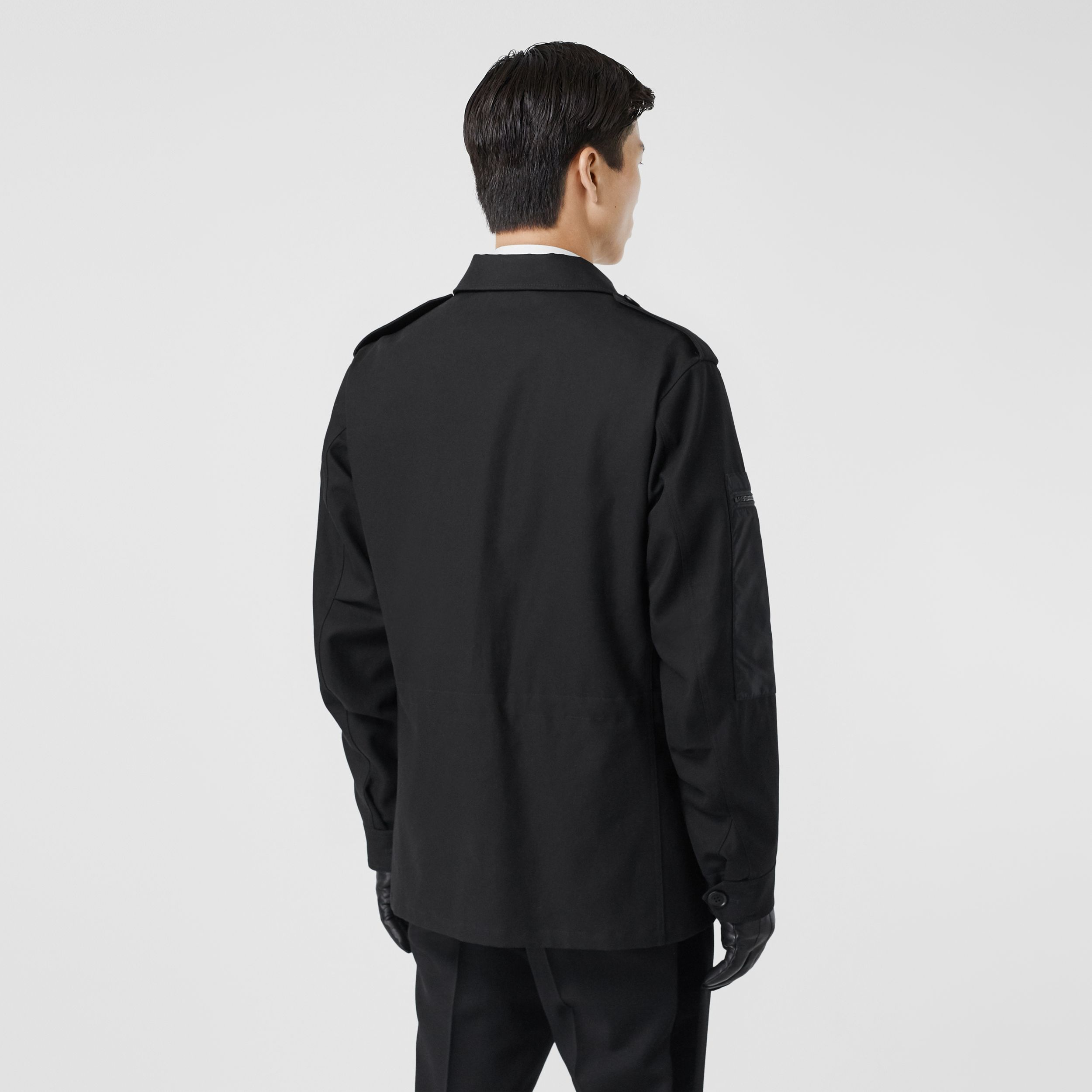 Cotton Gabardine Field Jacket in Black - Men | Burberry - 3